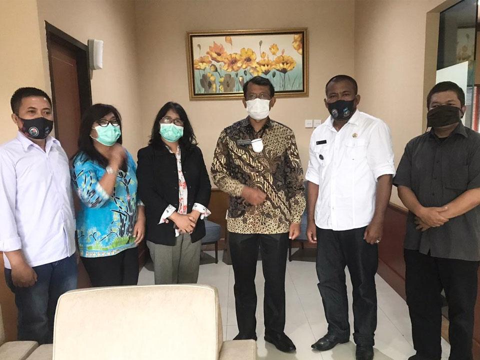Kunjungan Kepala Desa Karang Sari Bapak Supriadin ke Kantor Walikota Garut