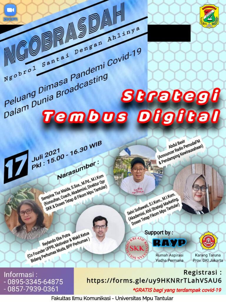 NGOBRASDAH STRATEGI TEMBUS DIGITAL